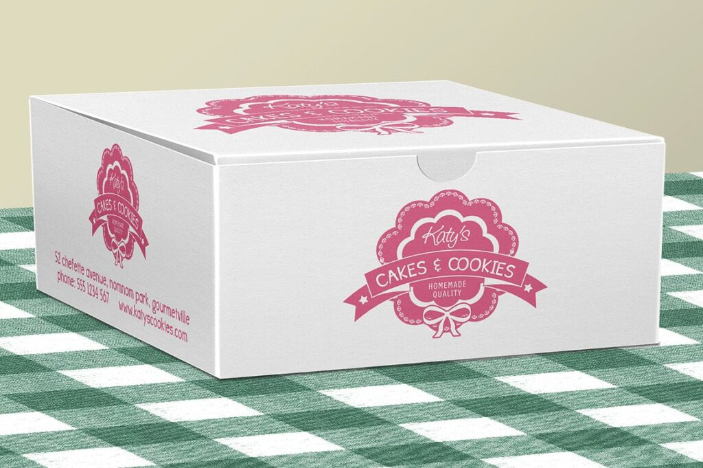 Pastries And Cakes Box Mockup