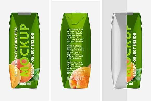 Personalized Carton of Juice Mockup