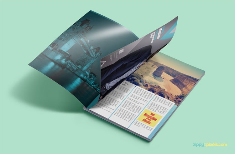 Photo Realistic Magazine PSD