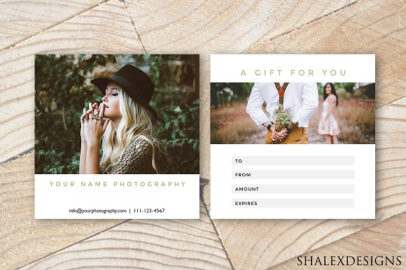 Photography Gift Certificate Mockup
