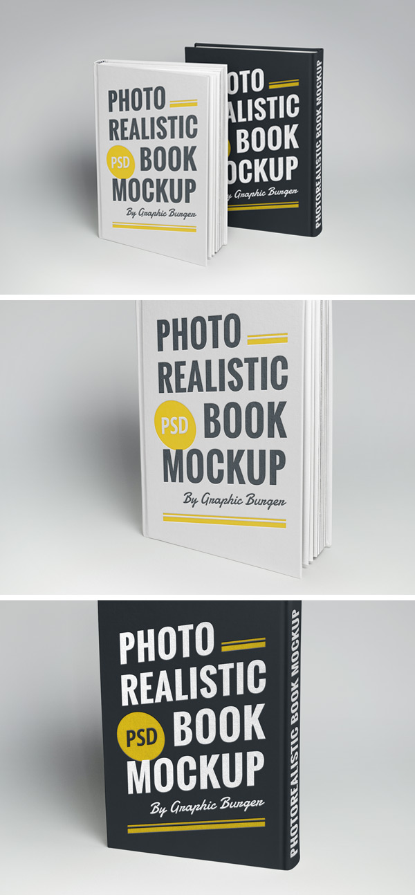 Photorealistic Book Cover Mockup