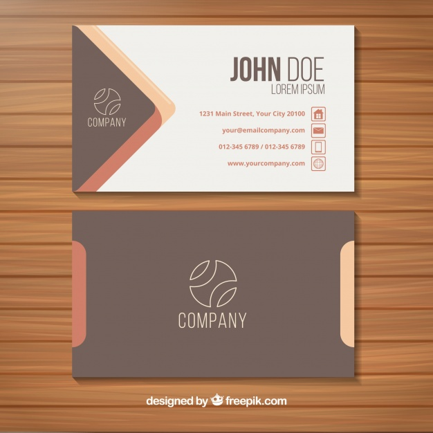 Photorealistic Name Card Vector Image