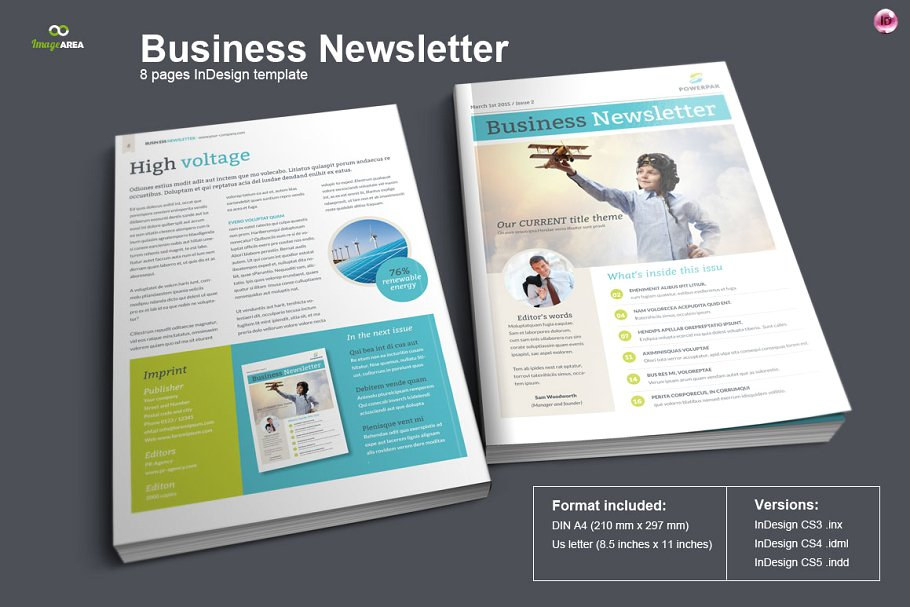 Picture Printed In Design Business Newsletter