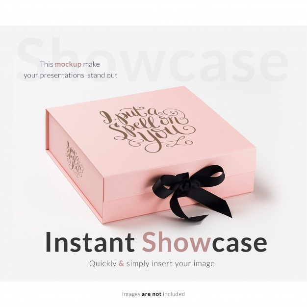 Pink Color Attractive Kraft Box PSD Design