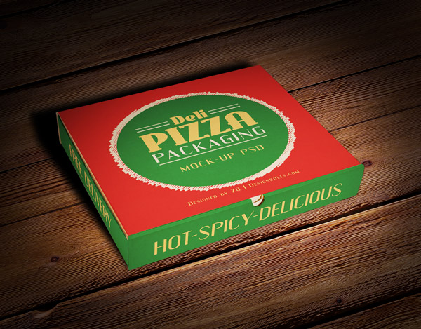 Pizza Packaging Box Mockup PSD File