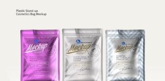 Plastic Packaging For Cosmetic Product Mockup