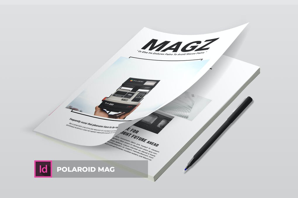 Polaroid Mag | Magazine Template