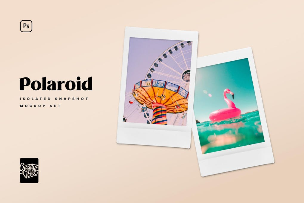 Polaroid Snapshot Picture Mock-up Templates