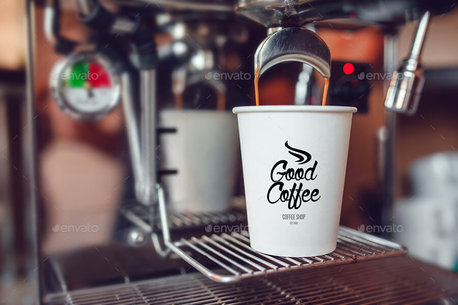 PrehistoricalBlurred Background Coffee Cup Mockup