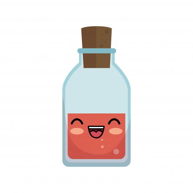 Premium Vector Of A Kawai Cute Bottle