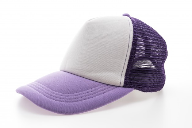 Purple And White Color Hat Mockup