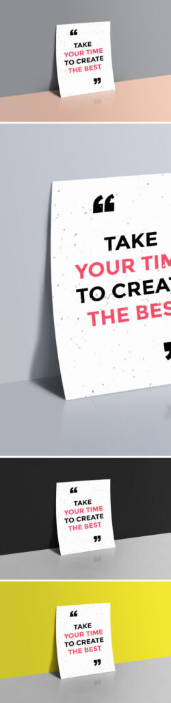Quotes Written Poster Template Design