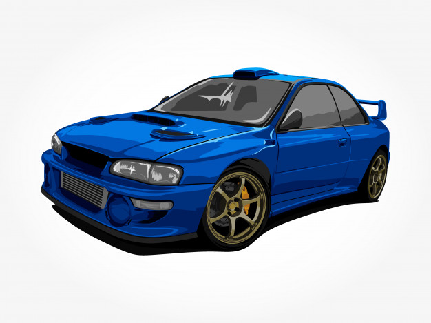 Racing Car vector.