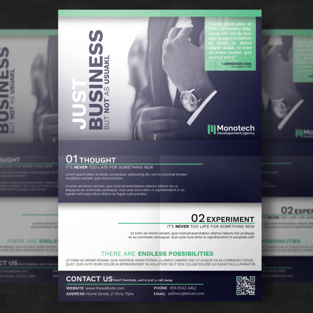 Realistic A4 Flyer Mockup Free Template Design