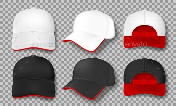 Realistic Baseball Cap Mockup Isolated
