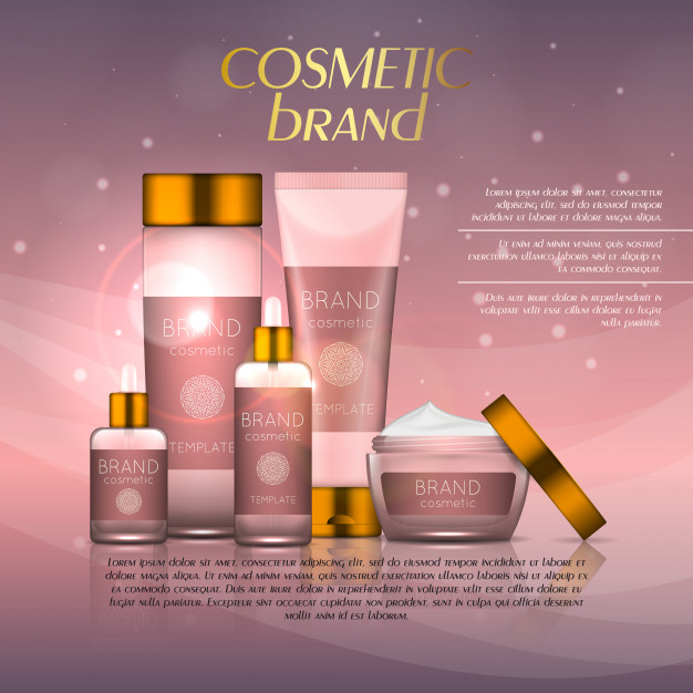 Realistic Cosmetic Product Vector