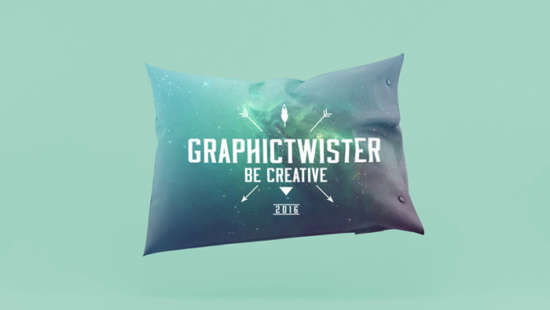 Realistic Design Pillow Illustration