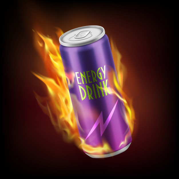 Realistic Energy Drink aluminium Can Vector File Format