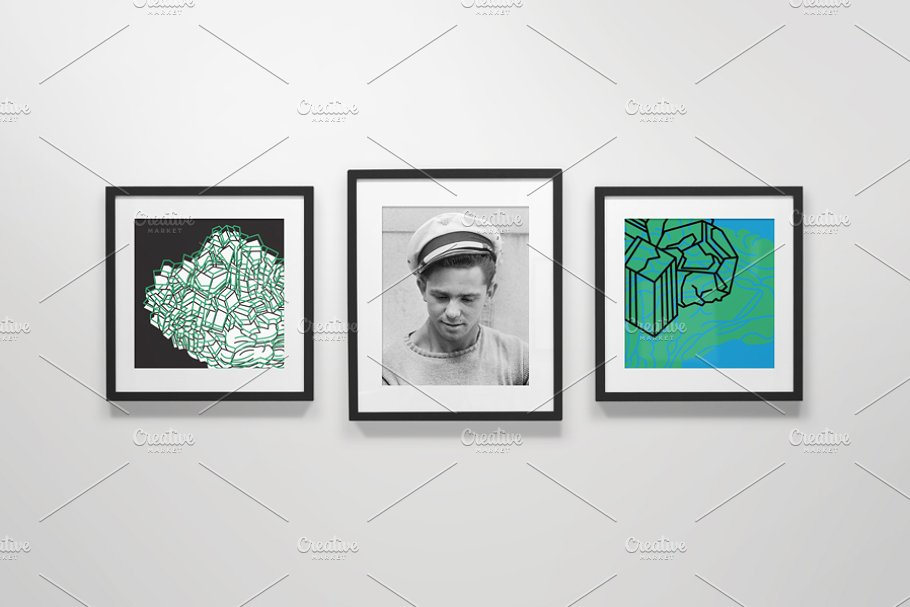 Realistic Frame Gallery Mockup
