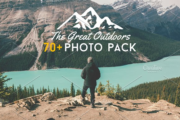 Realistic Outdoors Mountain View Photo Pack