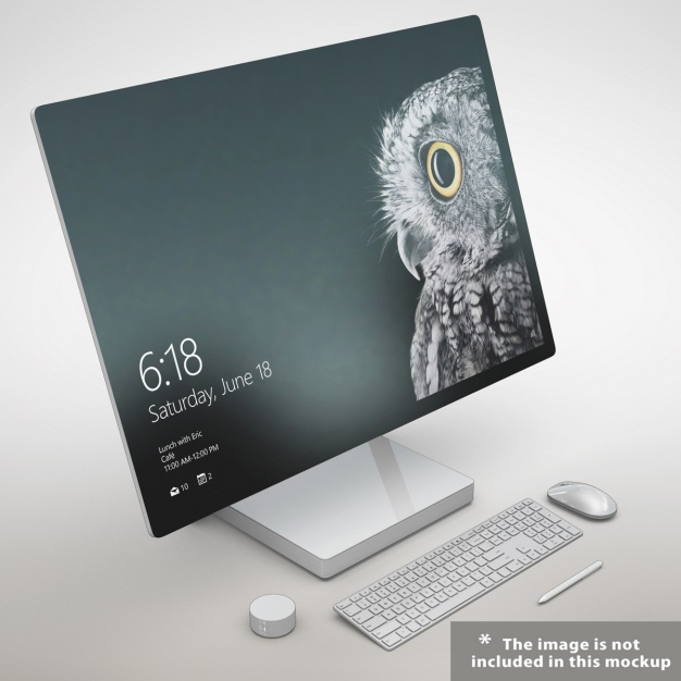 Realistic PC Monitor Mockup.