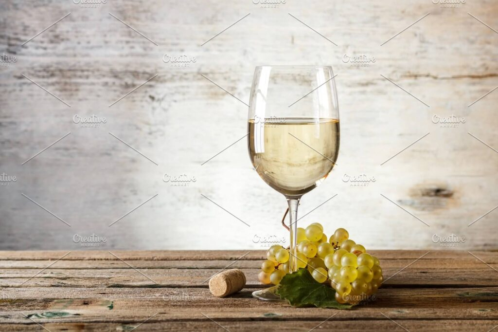 Realistic Scene Of A Wine Glass On Wooden Floor