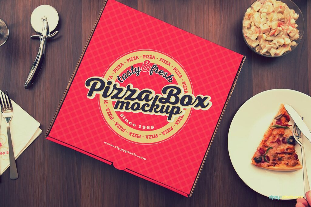 Red CardboardMade Pizza Packing Box