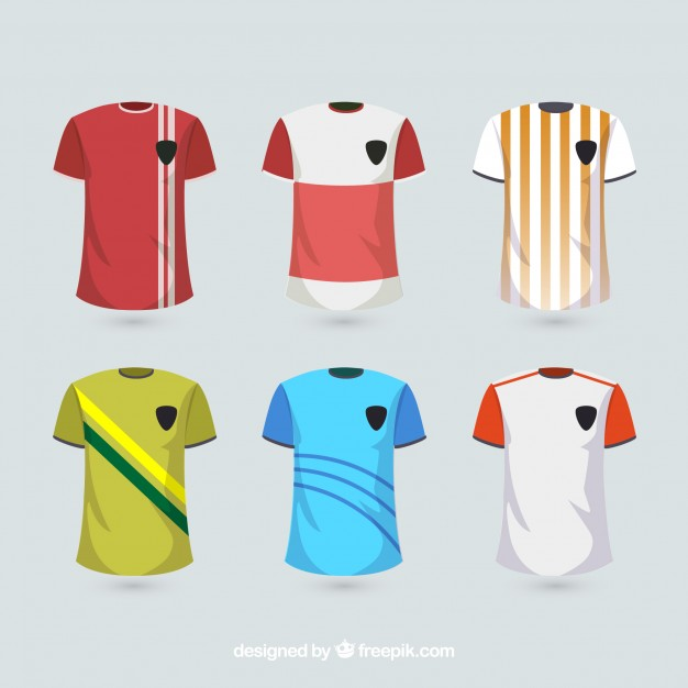 Red Color T-Shirt Mockup Illustration With White Line On It