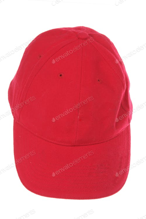 Red Realistic Hat Mockup