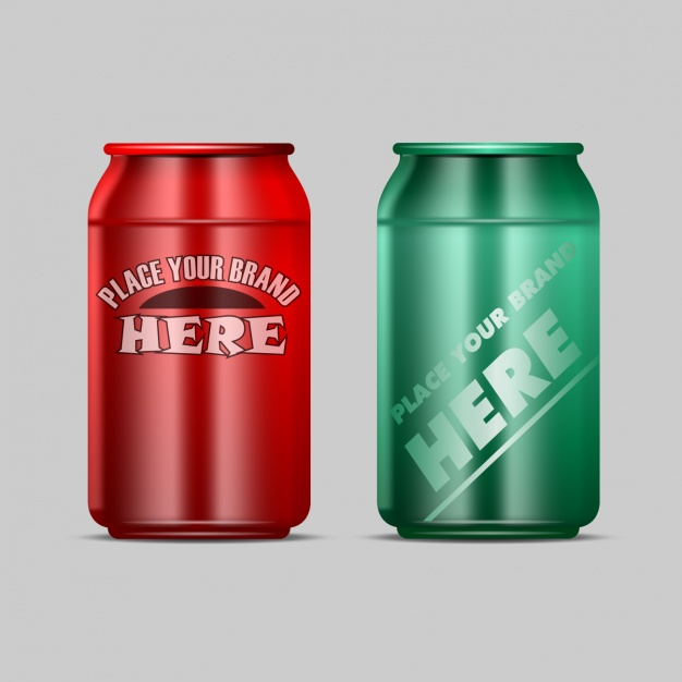 Red and Green Energy Drink Vector Design