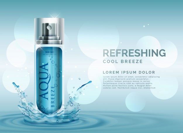 Refreshing Odor Spray Bottle Vector