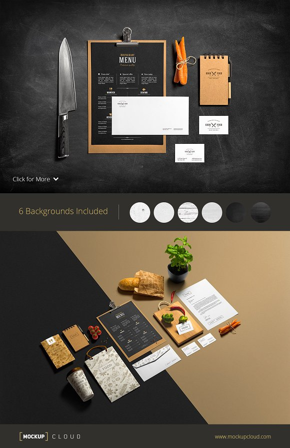 Restaurant & Bar Menu Mockup