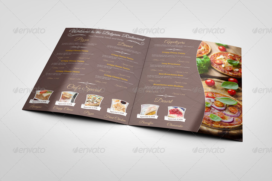 Restaurant Menu Mock-Ups