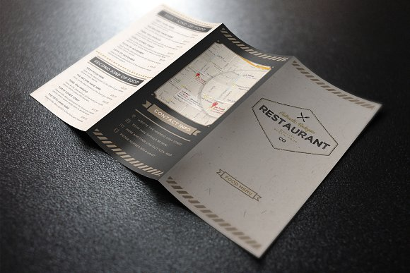 Rustic Menu Card Mockup