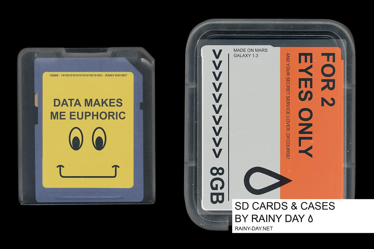 SD memory cards & cases mock-up