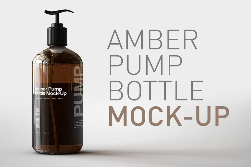 Shampoo Pump Bottle Mockup