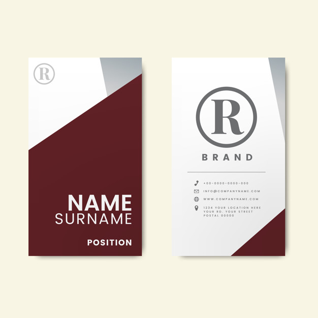 Simple And Slim Business Card Vector File