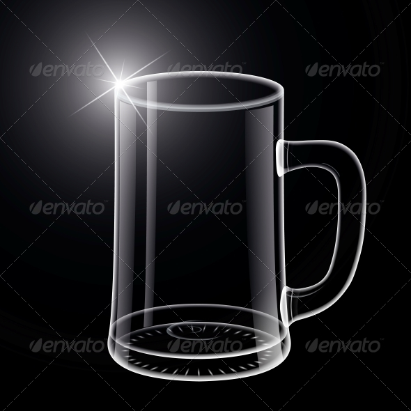 Simple Beer Mug Photo With Black Background
