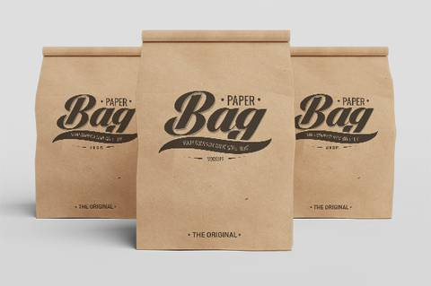 Simple Paper Packaging Bag Mockup