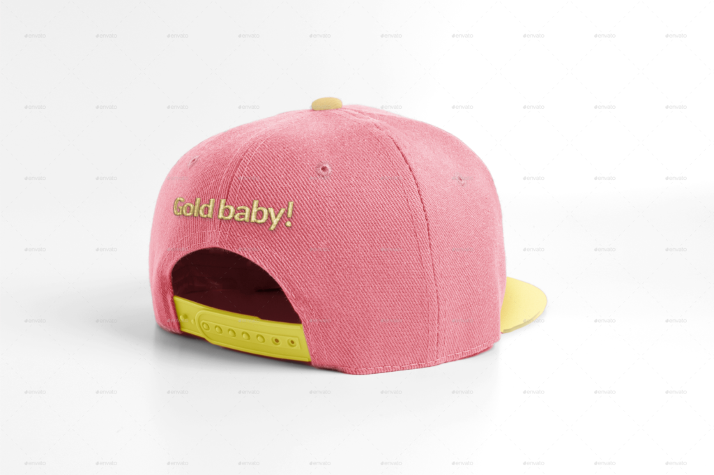 Simple Pink And Yellow Color Snapback Cap
