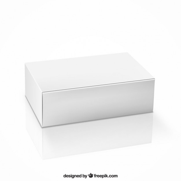 Simple White Shipping Box Vector File Illustration