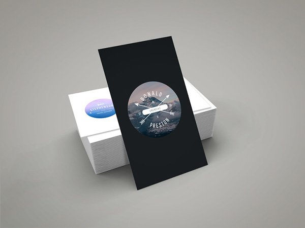 Slanting Business Card