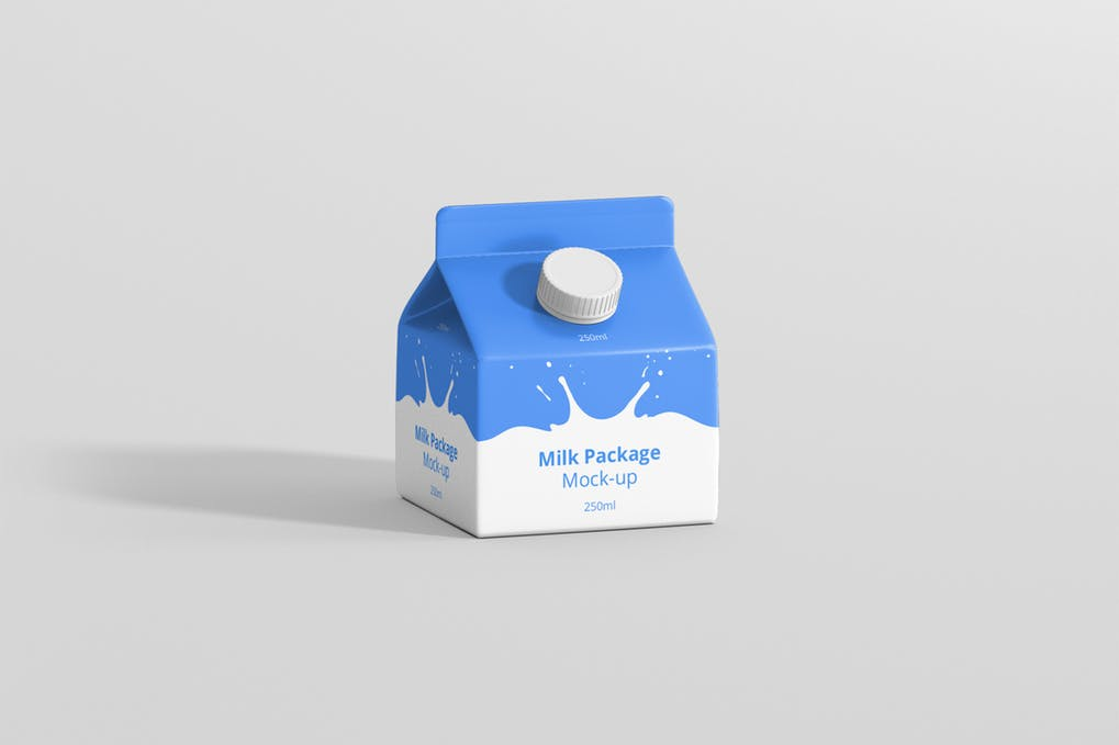 Small Milk Box Mockup