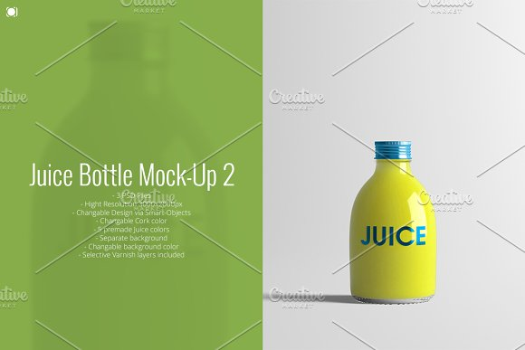 Small Size Juice Bottle Mockup