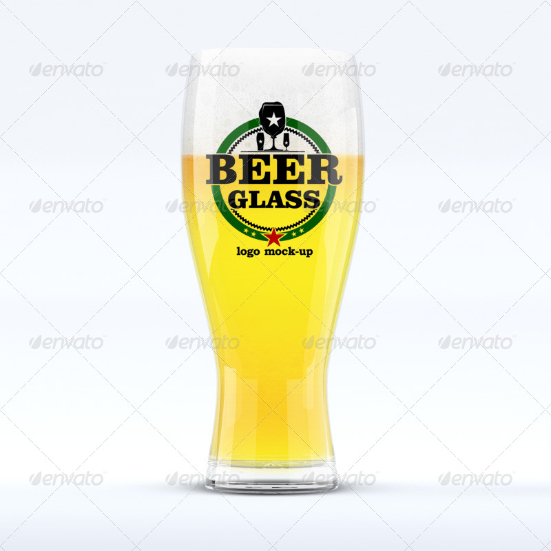 Smart Beer Glass With Logo Print Template
