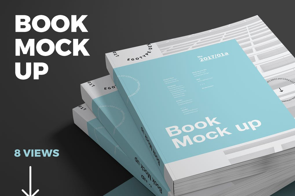 Soft Covered Book Mockup