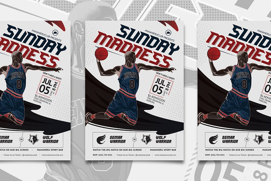 Sports A4 Size Flyer Mockup Free PSD