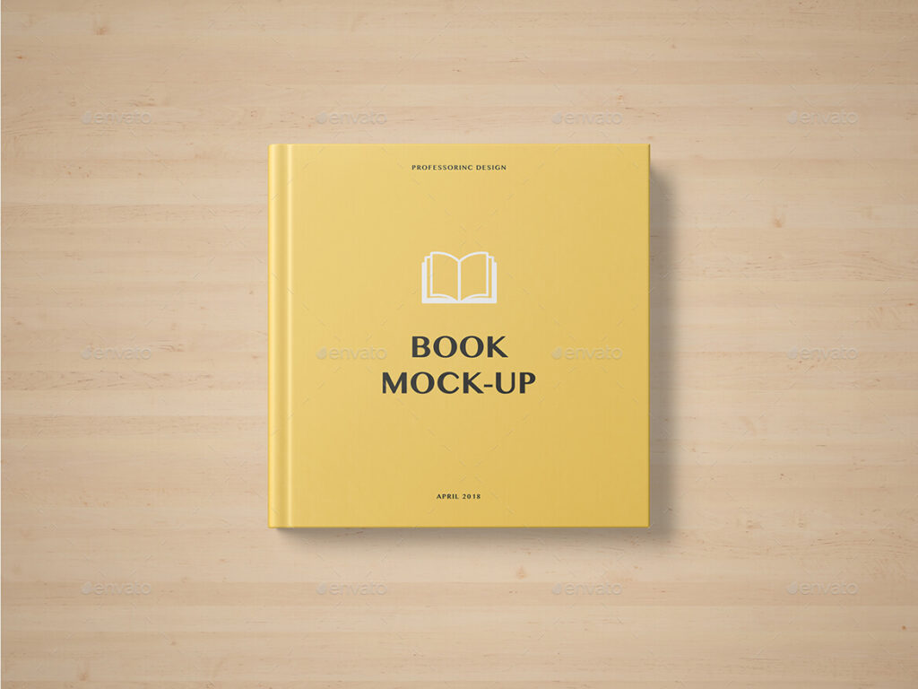 Square Book Mockup - Set 2