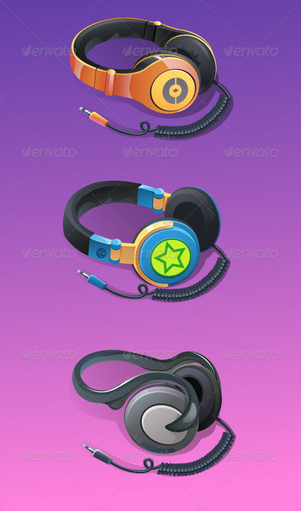 Stylish And Editable Headphone PSD Template.