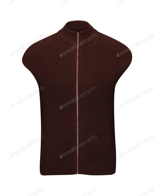 Sweater Vest For Children Template.